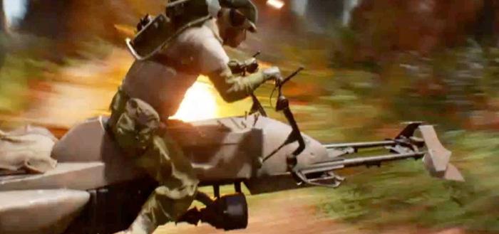 Soldier On A Speeder From Battlefront