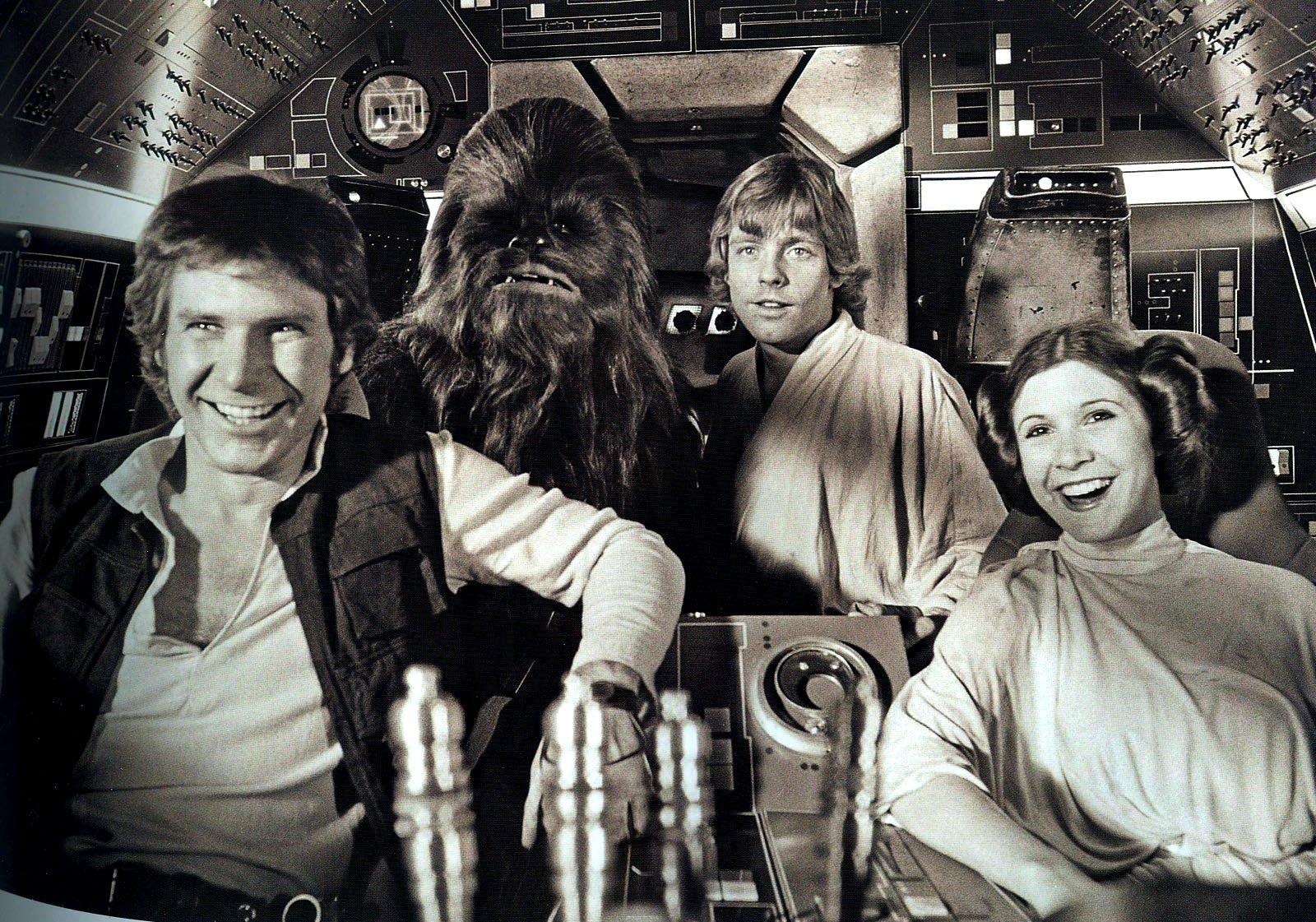 Chewie Luke Leia and Han