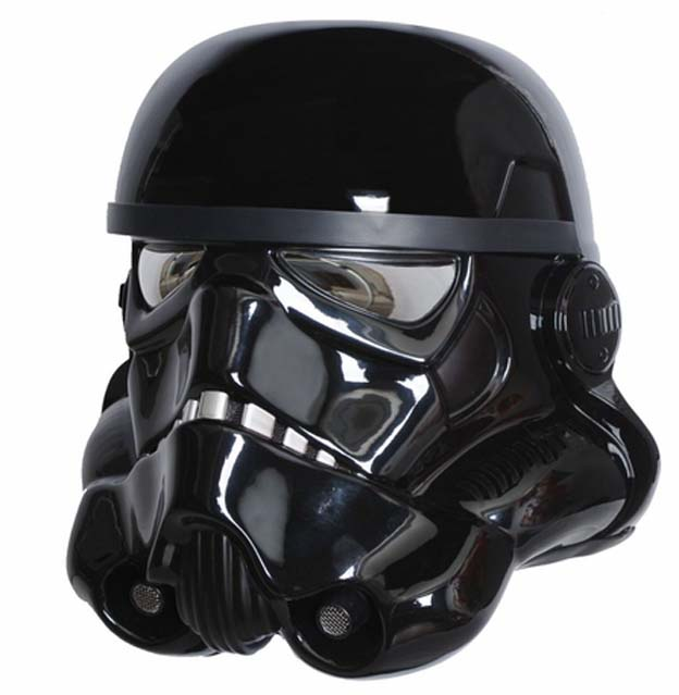 (Note: NOT an actual representation of an Episode 7 helmet - merely a well-done costume piece by eFx Collectibles.)