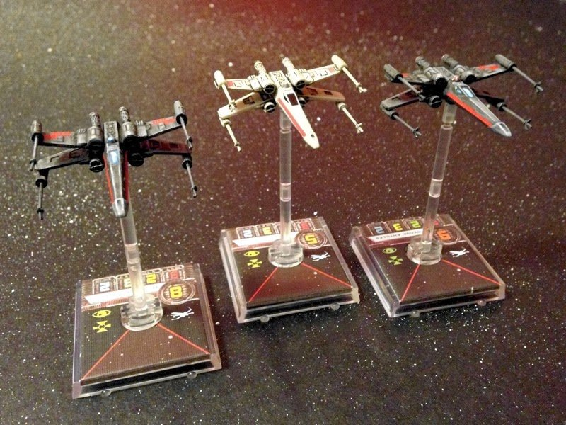 Stealth Squadron X-wings - miniature repaint