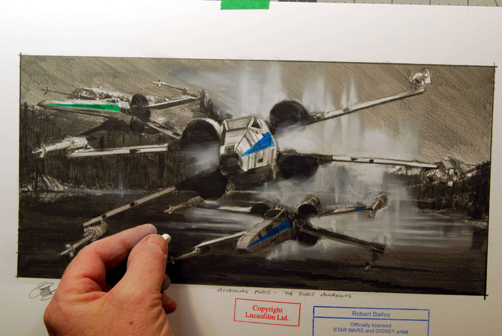 Update robert bailey on his sketches from star wars the force update robert bailey on his sketches from star wars the force awakens malvernweather Gallery