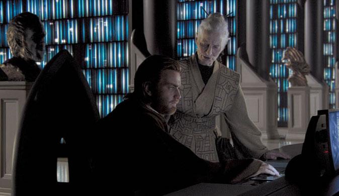 Obi Wan and Jocasta Nu in Jedi Archive