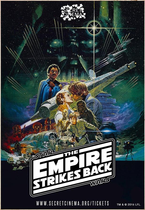 Secret Cinema Empire Strikes Back poster