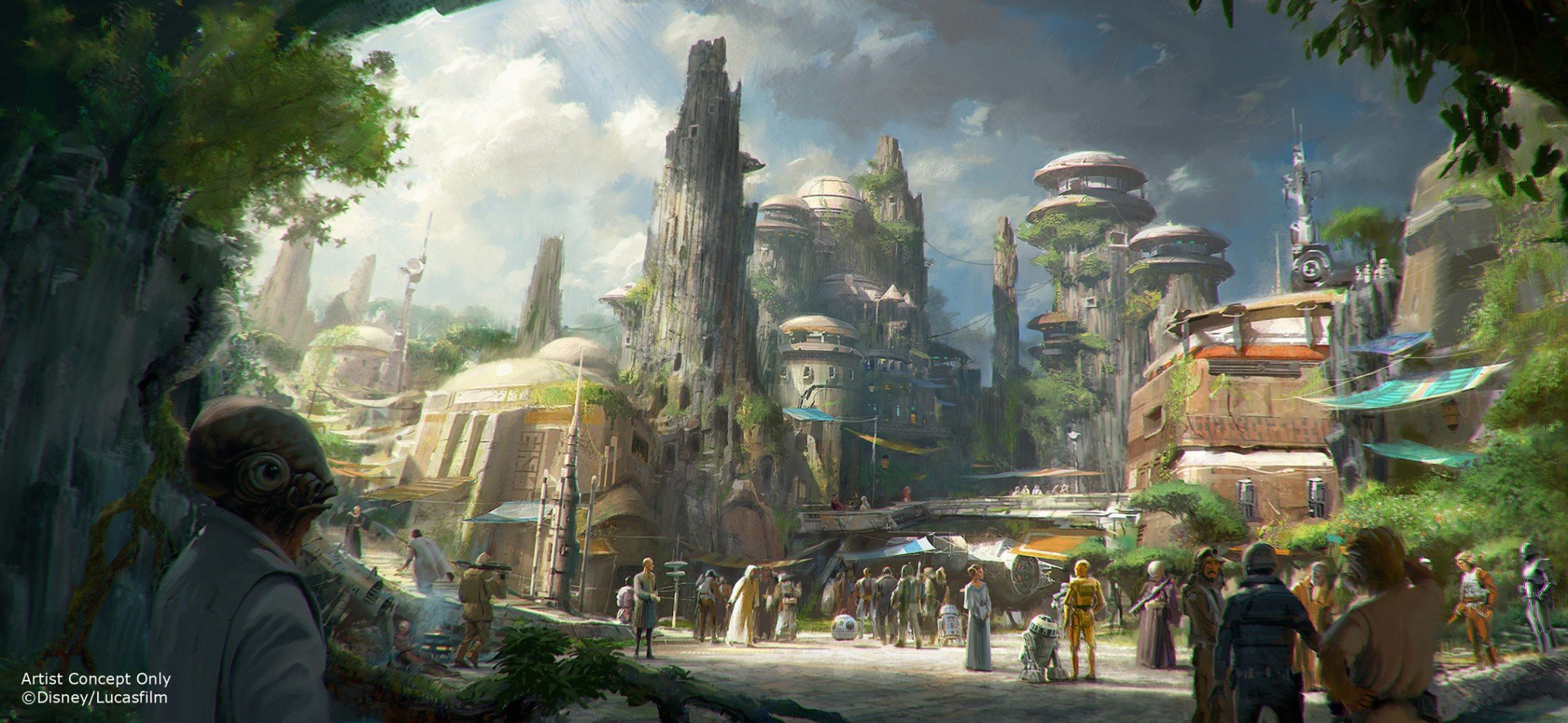 Star Wars Land Concept Art 3