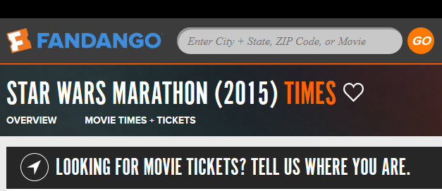 Fandango Star Wars Marathon