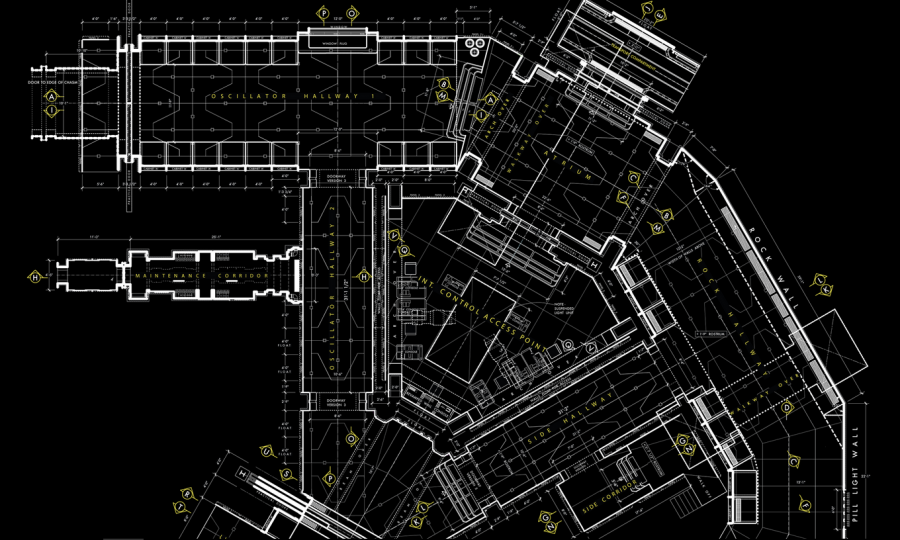 Blueprints and details on the construction of starkiller base wired has a very cool article showcasing several blueprints for the interior of the starkiller base the base of operations of the first order malvernweather Choice Image