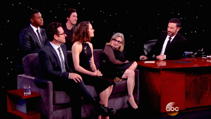 Update 3 The Full Jimmy Kimmel Live Show Featuring The Cast Of Star Wars The Force Awakens Star Wars News Net
