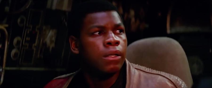 Finn on the falcon