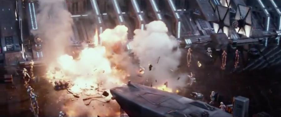 Star destroyer hanger explosion