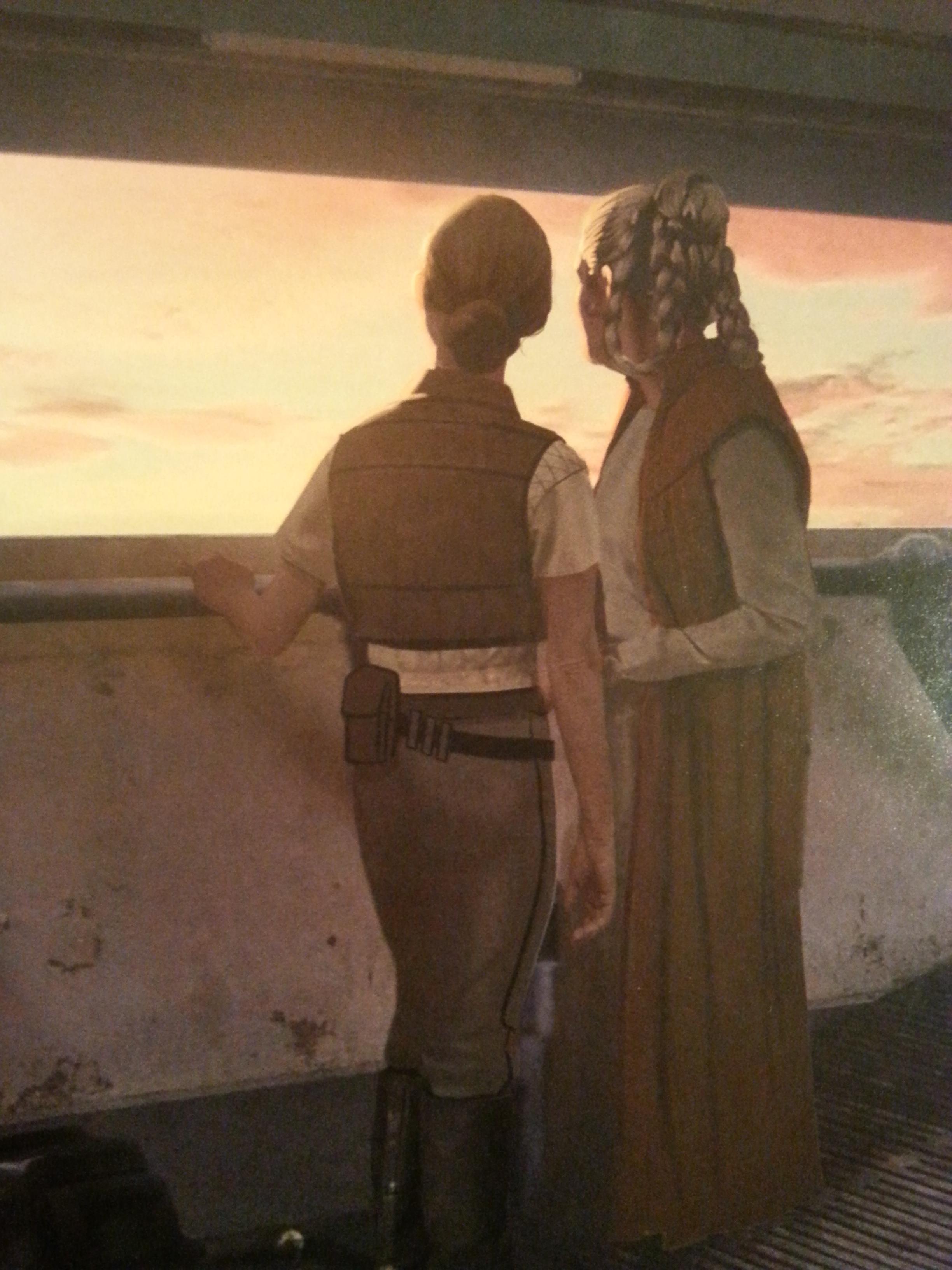 End Kira (Rey) and Leia