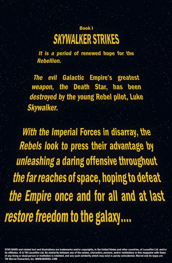 POLL: Should Rogue One Use an Opening Crawl? - Star Wars News Net