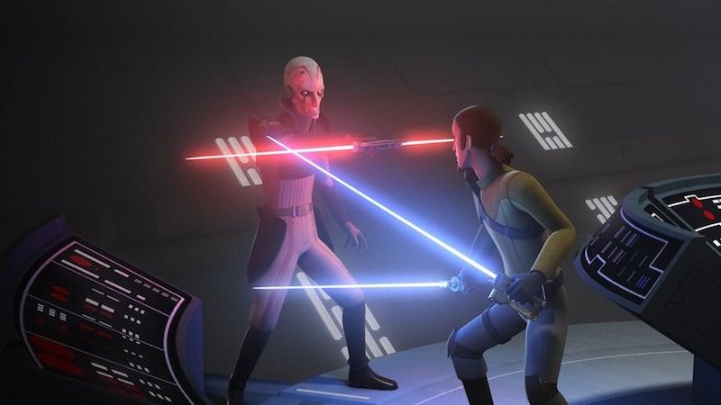 Grand Inquisitor vs Kanan in Star Wars Rebels