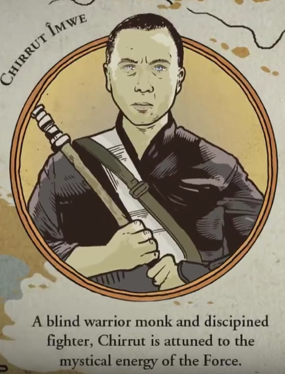 Is Donnie Yens Rogue One Character Chirrut îmwe Force Sensitive Or