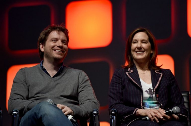 Gareth Edwards and Kathleen Kennedy