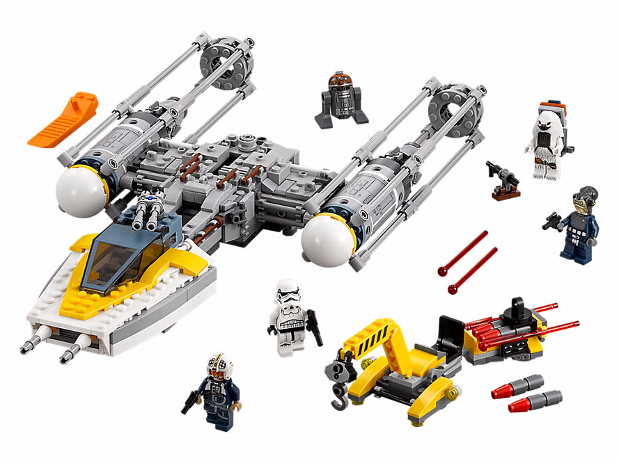 new lego rogue one y wing with moroff minifigure revealed. Black Bedroom Furniture Sets. Home Design Ideas