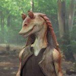 Jar Jar Binks, Obi-Wan Kenobi and Qui-Gon