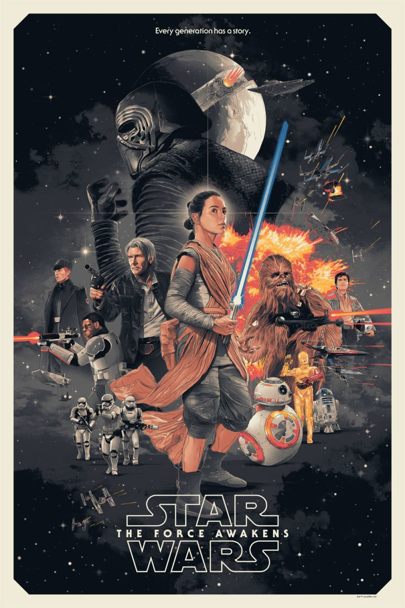 this is the awakens officially licensed poster