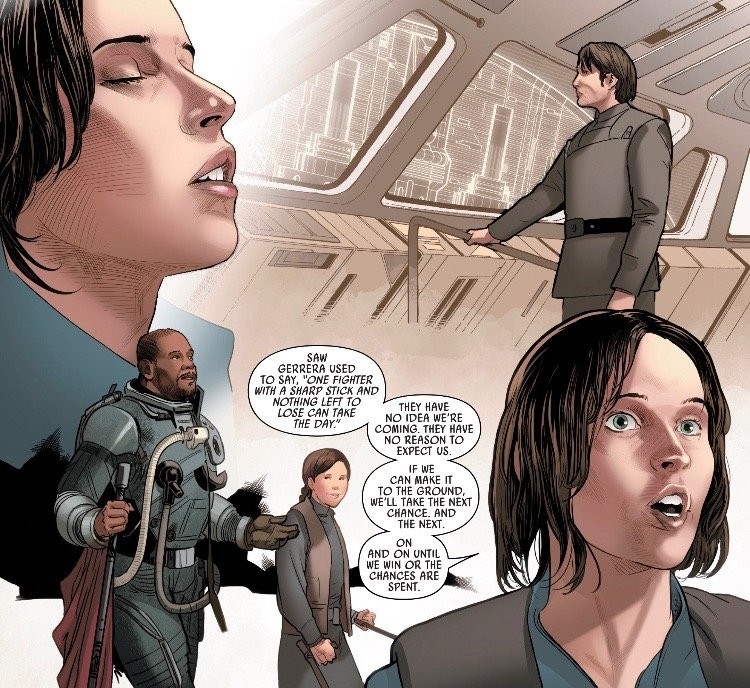 marvelrogueone- jyn memories