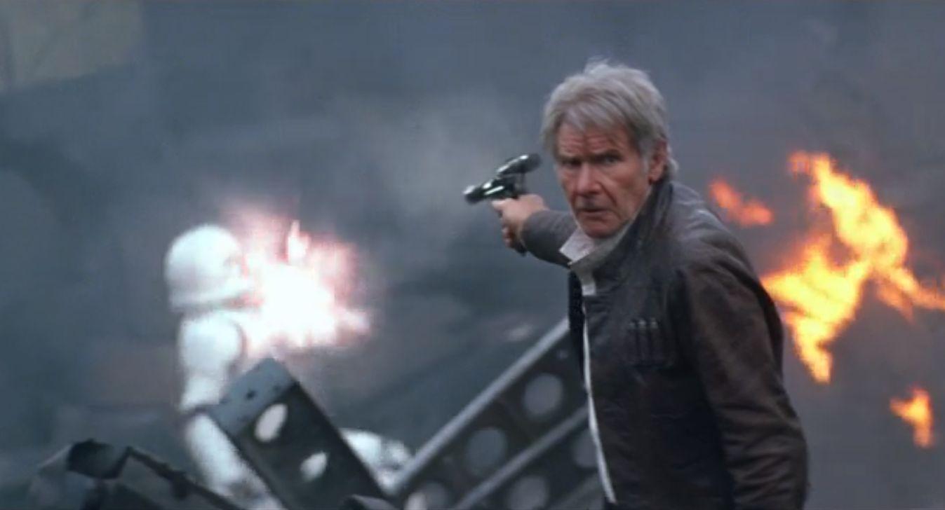 Han Solo blind shot in TFA