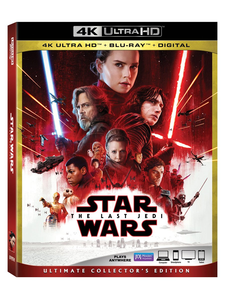 Star Wars: The Last Jedi Dominates the DVD and Blu-Ray market in its