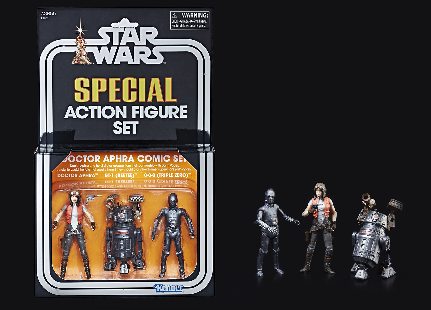 """SDCC 2018 HASBRO STAR WARS The Vintage Collection 3.75/"""" DOCTOR APHRA COMIC SET"""