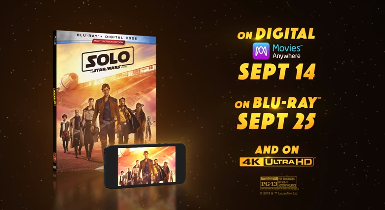 Updated With Details on Bonus Features and Deleted Scenes - 'Solo: A