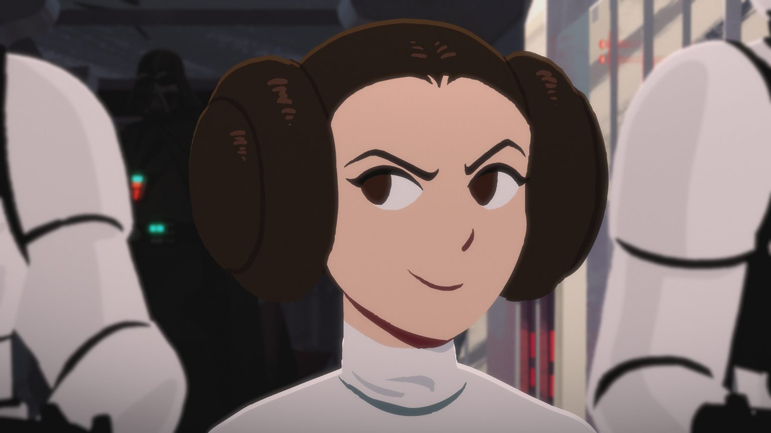 Princess Leia in Galaxy of Adventures