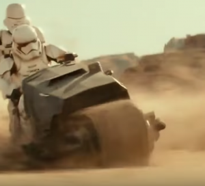 First Order stormtroopers motorcycle