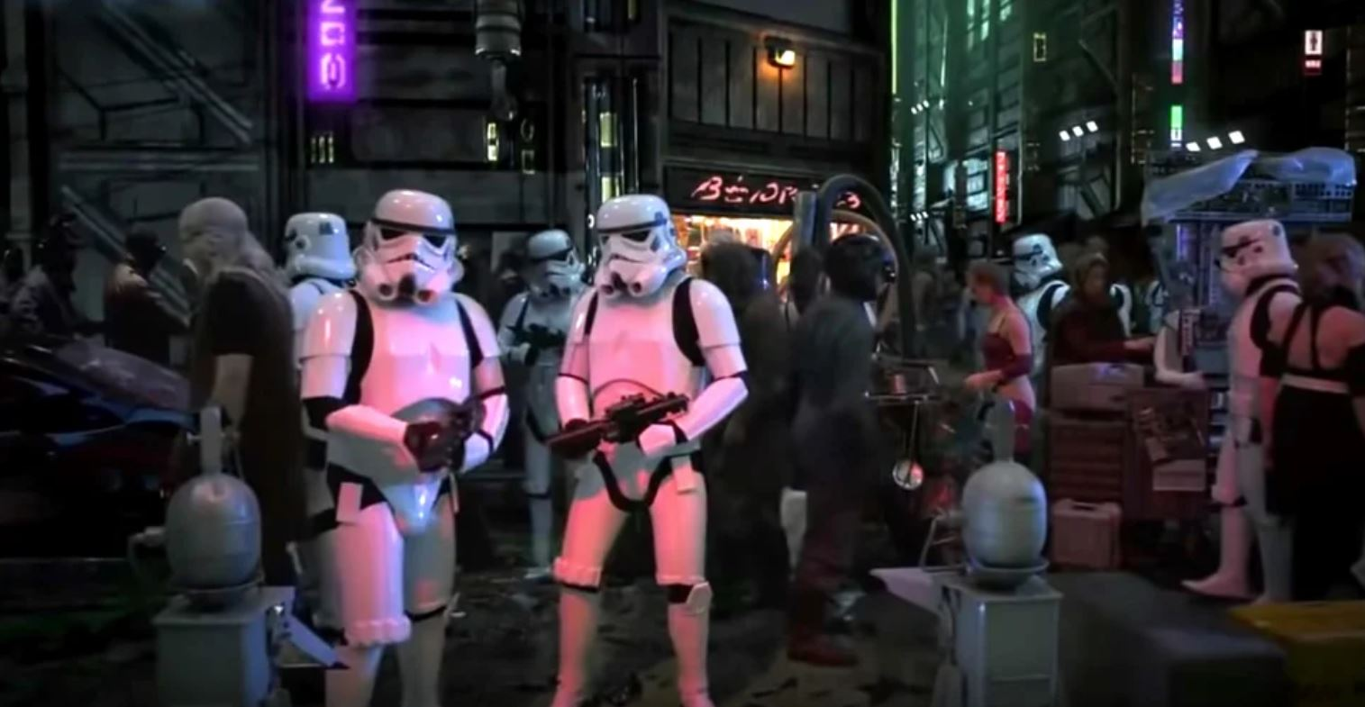 Stormtroopers on the set of Star Wars: Underworld