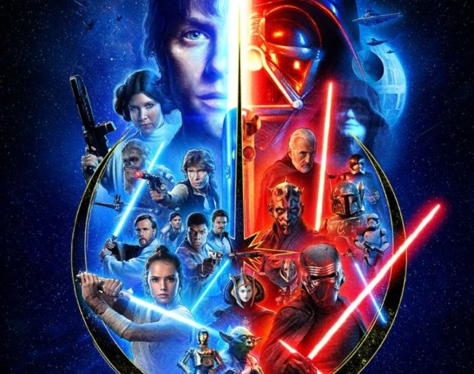 four decades come together in new star wars saga poster