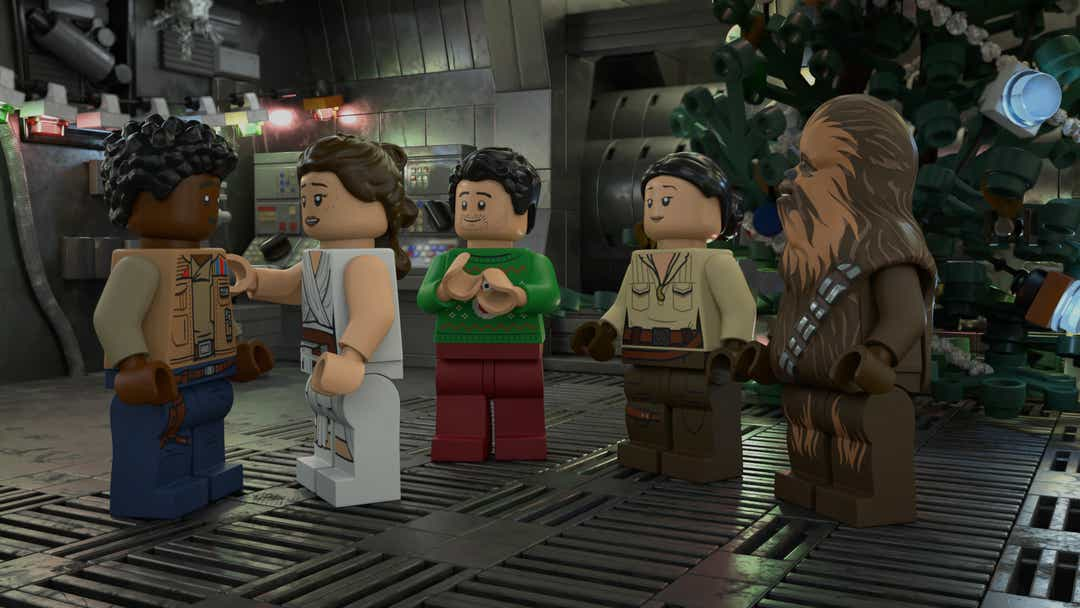 The cast of the Lego Star Wars Holiday Special