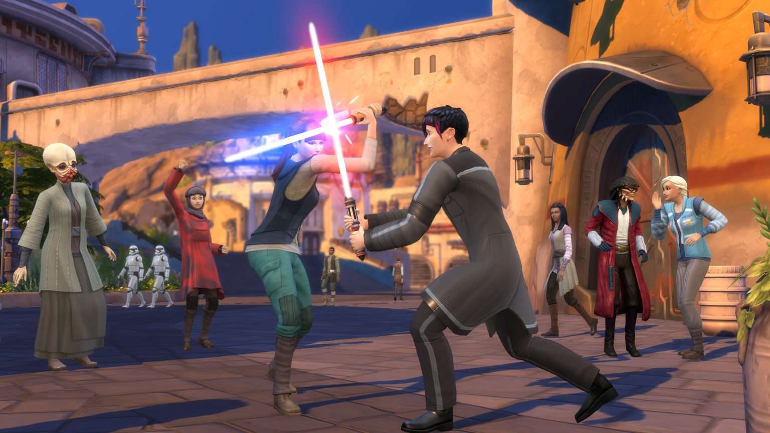 Lightsaber in the Star Wars Sims 4 expansion