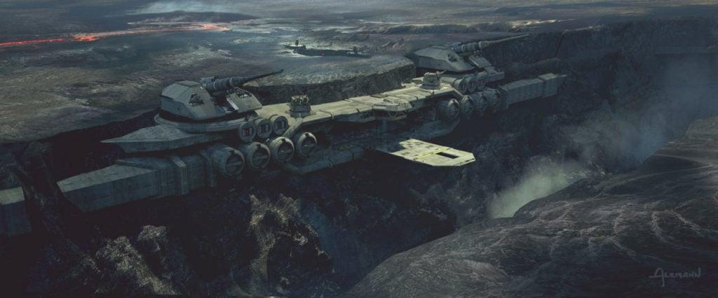 The Mandalorian concept art by Christian Alzmann.