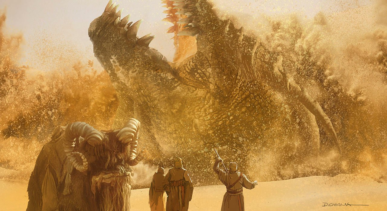 The Mandalorian: Krayt Dragon Concept Art (Doug Chiang)