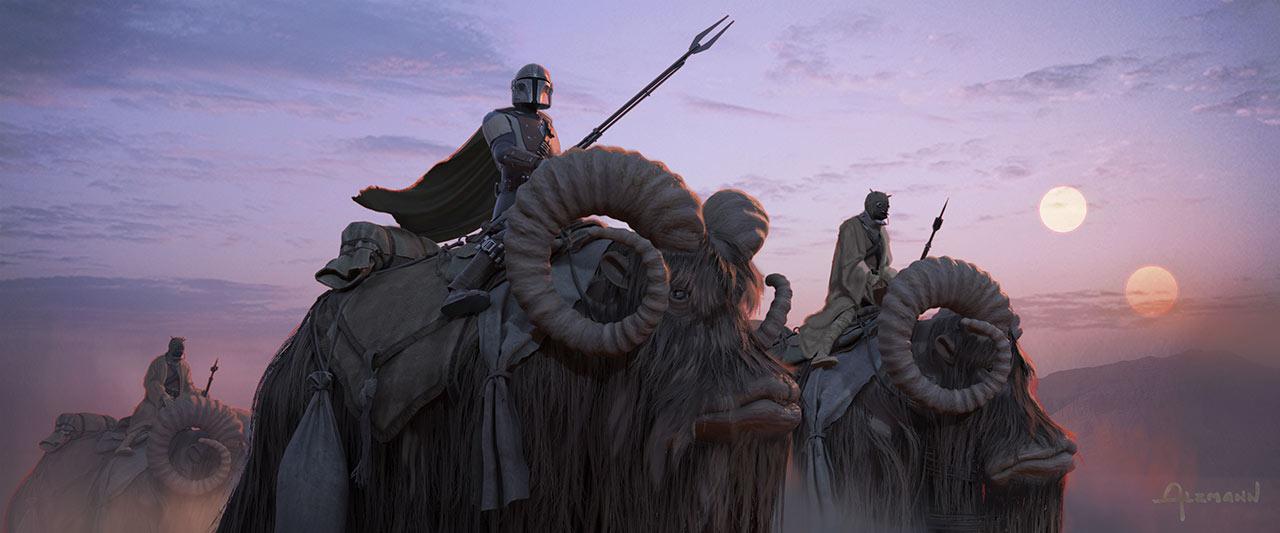 Mando Riding Banthas (Christian Alzmann)