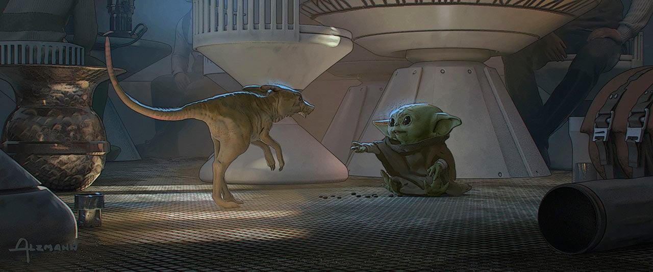 Baby Yoda Concept Art (Christian Alzmann)