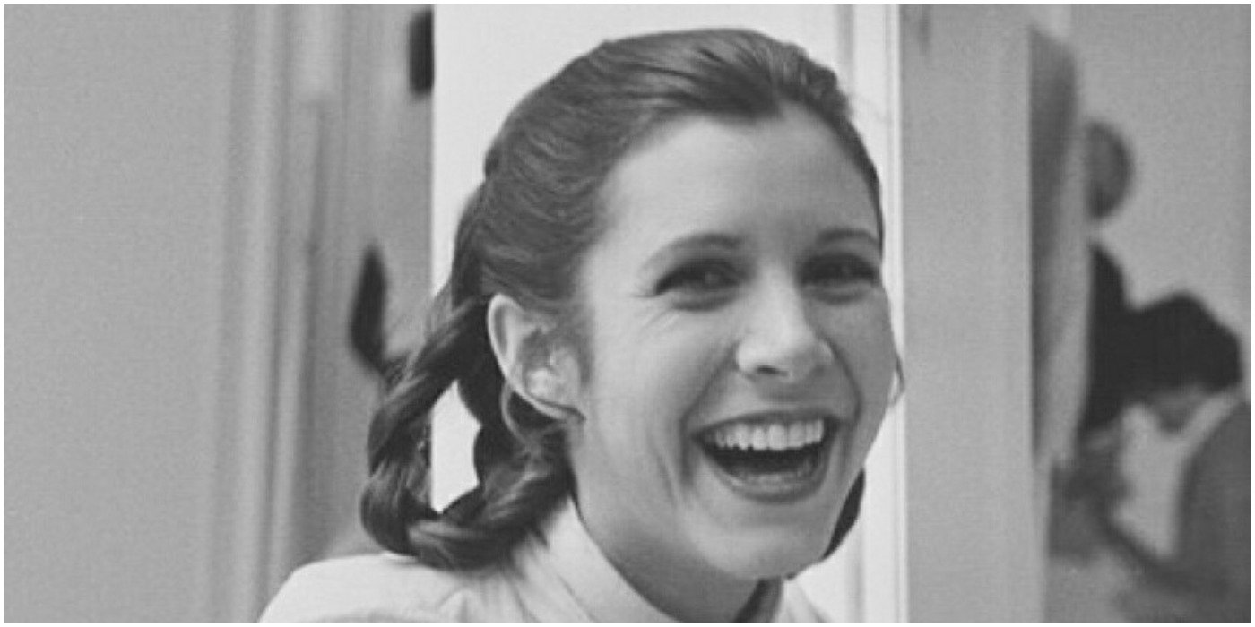 Carrie Fisher BTS Empire Strikes Back