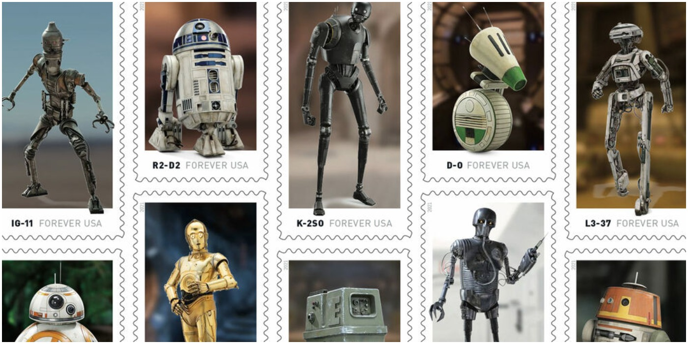 Star Wars Droid Stamps Feature