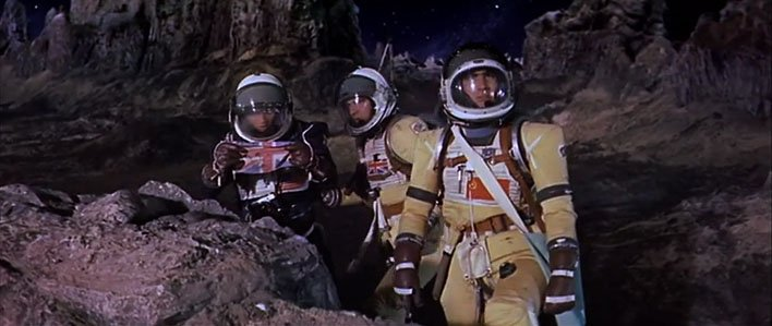 Space suits featured in First Men In The Moon (1964). Bossk suit prop.