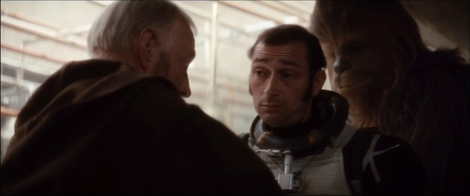 Basil Tomlin as Bo Shek in Star Wars A New Hope. Bossk suit prop