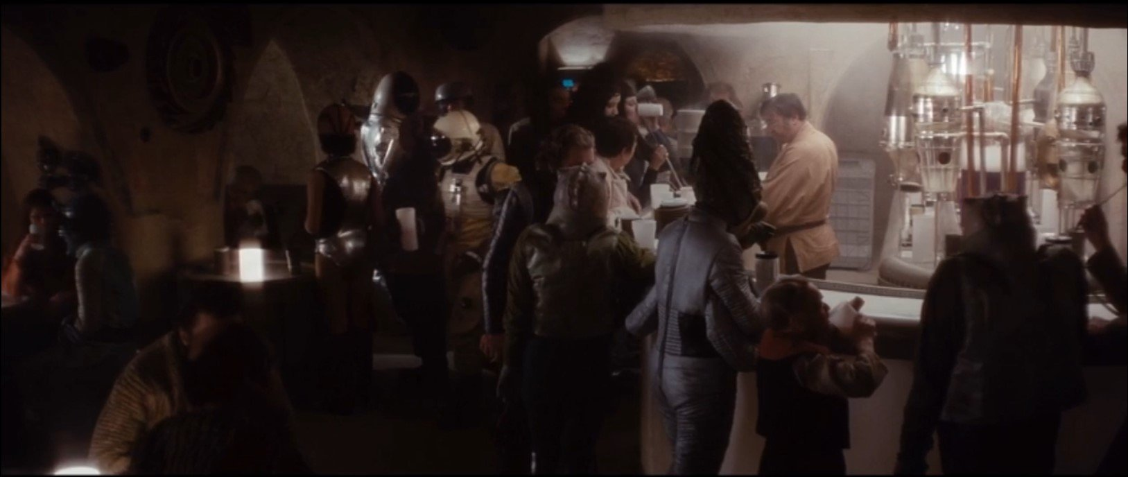 Star Wars A New Hope Cantina Scene. Bossk suit prop and IG-88 head prop