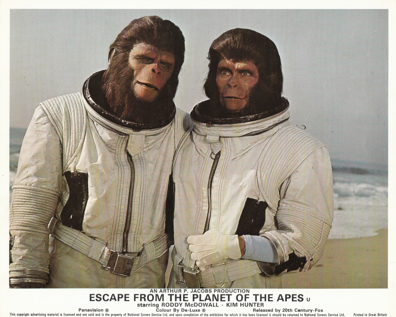 Cornelius and Zira from Escape From The Planet Of The Apes wearing Duros space suit prop