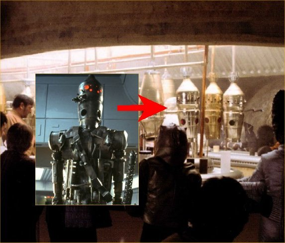 Droid IG-88 and cantina set with props that would become his head. IG-88 head prop.