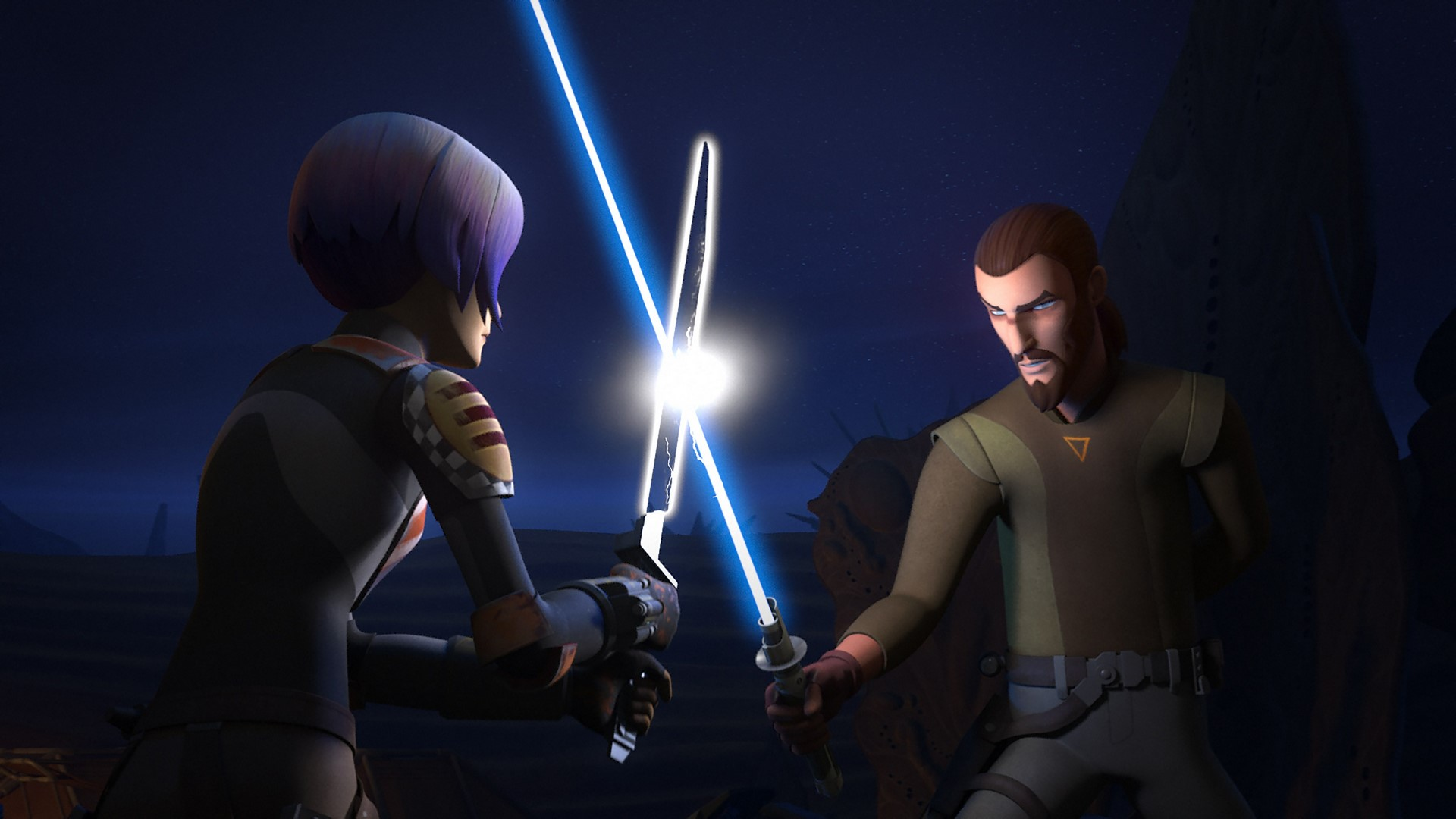 Sabine vs Kanan in Star Wars Rebels