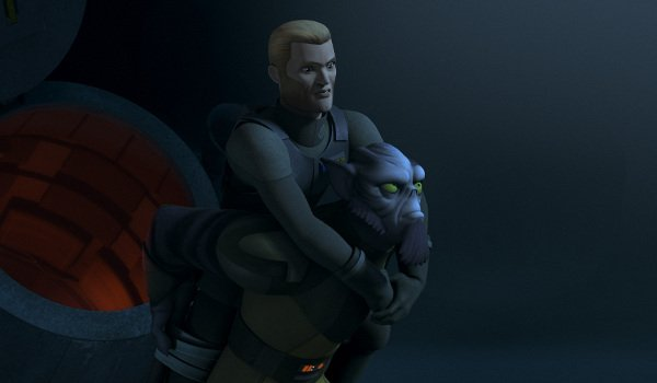 Agent Kallus and Zeb in Star Wars Rebels