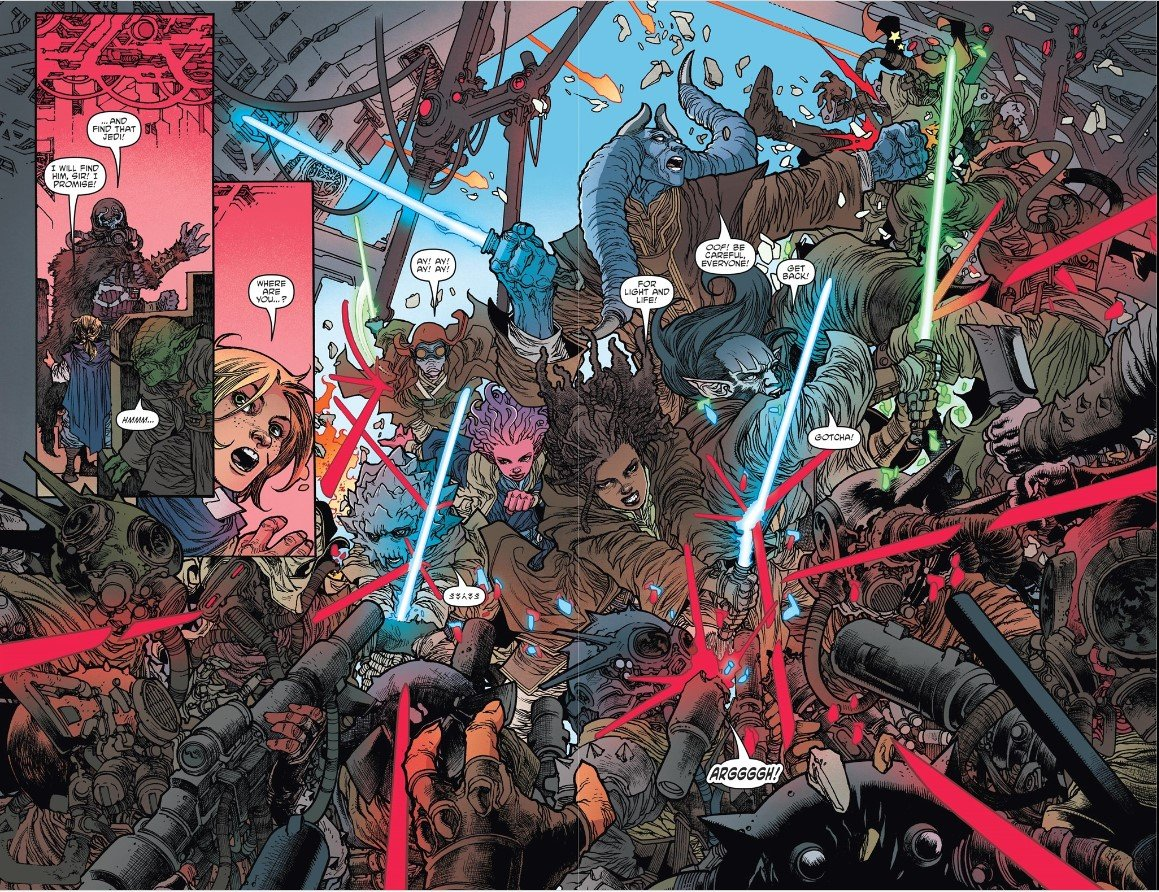 Jedi padawans fight the Nihil
