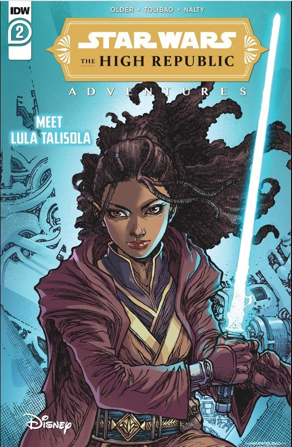 Jedi padawan Lula Talisola on the cover of The High Republic Adventures #2