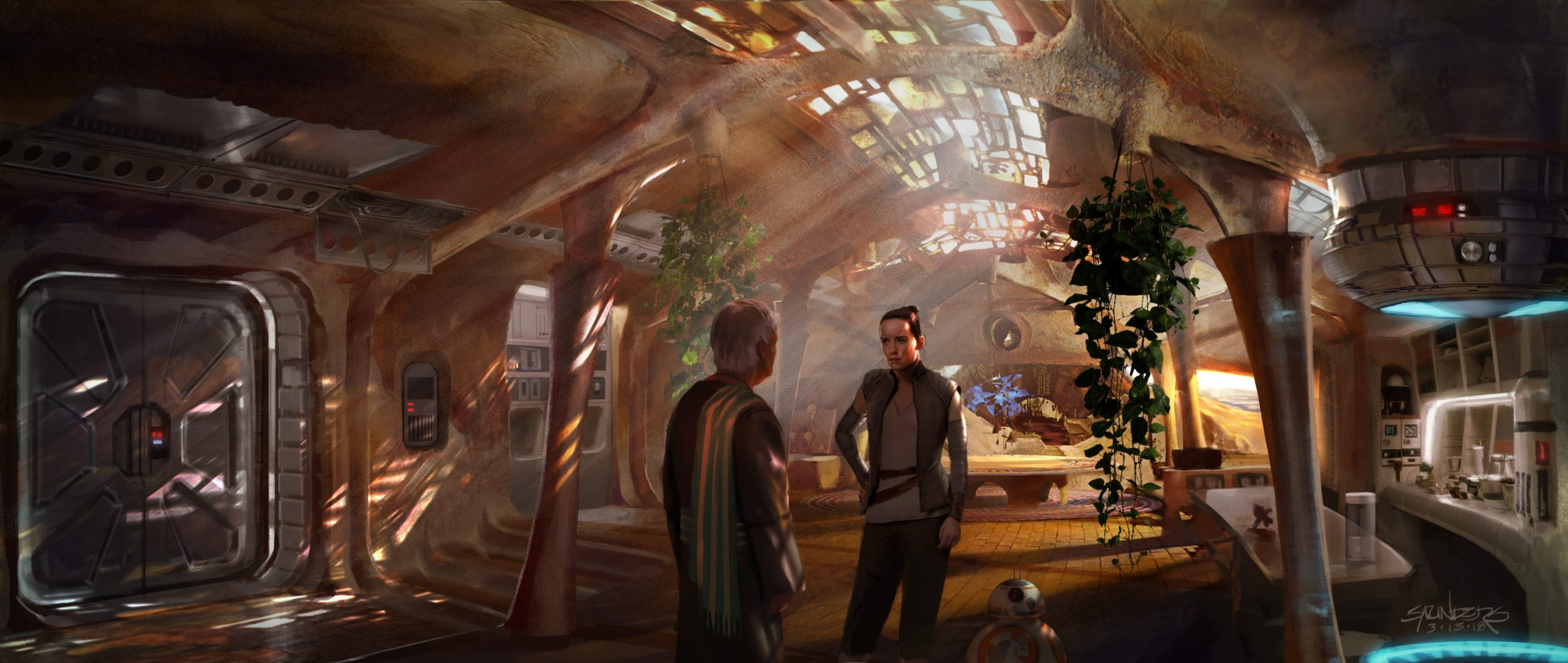 Concept art for an early draft of Star Wars: The Rise of Skywalker