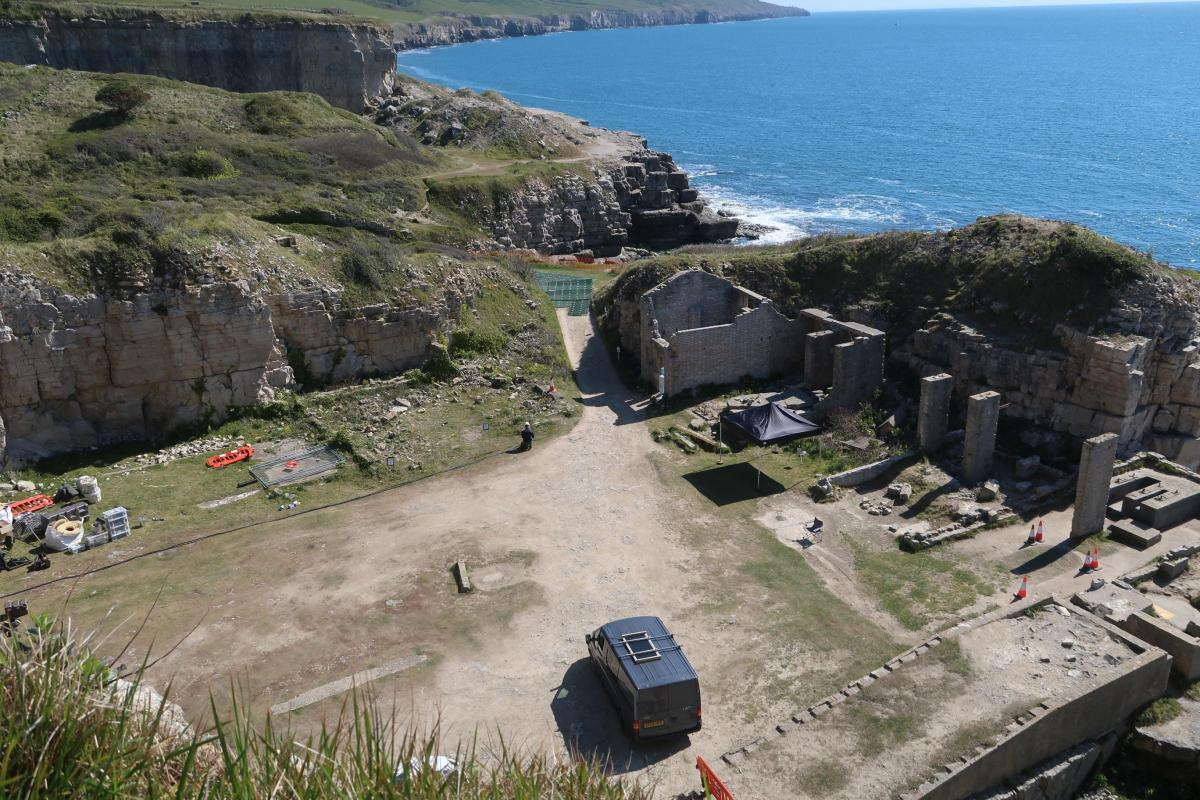 New Photos Reveal 'Star Wars: Andor' Possibly Filming at Winspit Quarry in Dorset, England