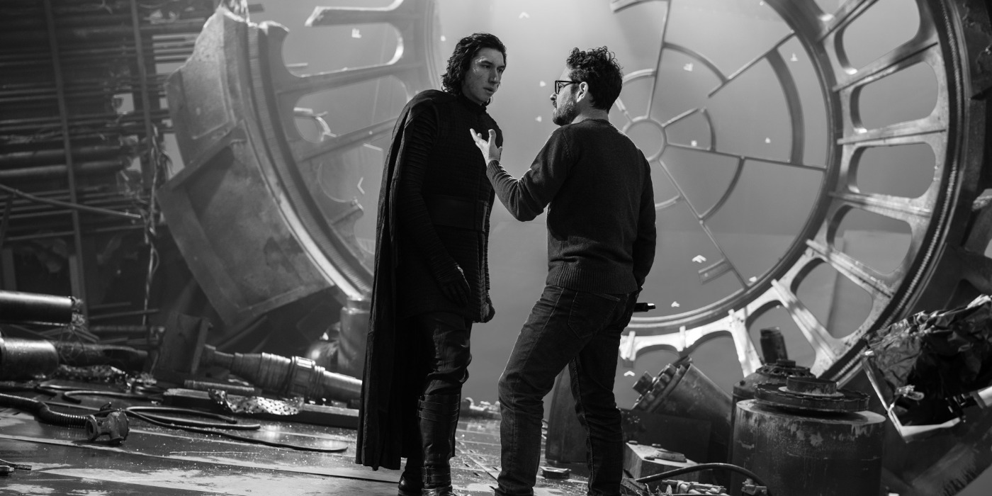 JJ Abrams Directing Adam Driver On Set Of Rise Of Skywalker